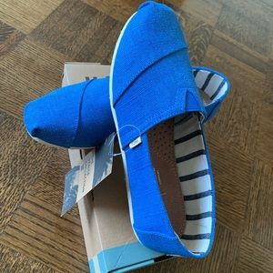 Brand new Toms in box with tags - bright blue